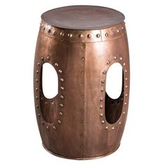 Industrial Barrel Copper Stool   Overstock.com Shopping - The Best Deals on…
