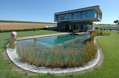 Naturally filtrated swimming pool - giving back to the land.
