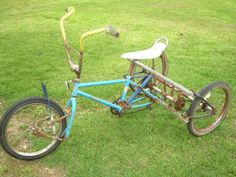Three wheeled bike made by me and my dad