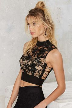 Nasty Gal Permanent Mark Crop Top - Valentine's Day | Valentine's Day | Do East | Cropped | Tops