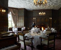 The Oak Room Restaurant at Tylney Hall Hotel - wonderful formal dinner ...