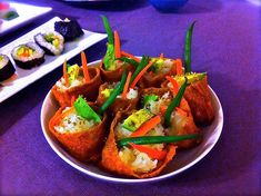 Love the idea of vegetarian sushi without nori sheets!! The picky vegan and I are kindred spirits. =)