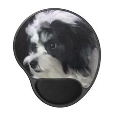 Dog Mouse Pad w/Gel Wrist Rest Photo K-CEE - gift idea personalize