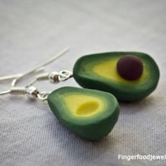 Avocado sculpey earrings