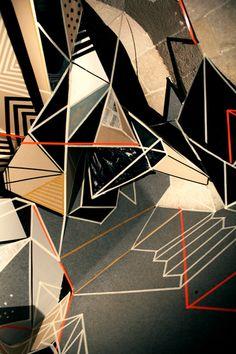 clemens behr #installation Geometic shapes . #clemens_behr http://www.widewalls.ch/artist/clemens-behr/