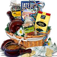 Soup and Salad Gift Basket - Love the bowls