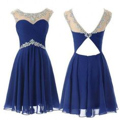 Homecoming Dress Knee-length Beading A-line Sleeveless Zipper Chiffon Round For Homecoming Hot Sale Dresses