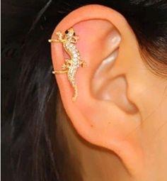 Diamond gecko ear clip , shop at Costwe.com