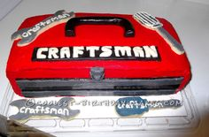 Craftsman Toolbox Cake for Handyman Dad... This website is the Pinterest of birthday cake ideas
