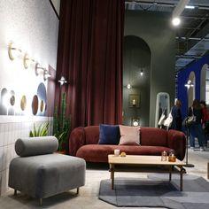 Eno Studio zeigte auf einem großen Messestand seine atemberaubenden Leuchten und Möbel. Art Deco Stil, Sofa, Couch, Curtains, Paris, Studio, Furniture, Home Decor, Dining Ware