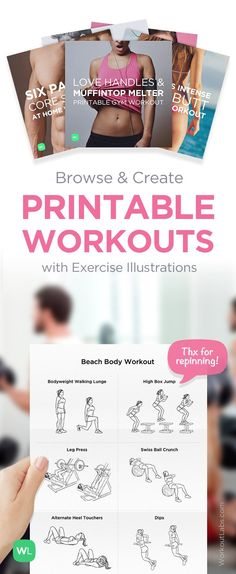 Visit http://WorkoutLabs.com/custom-workout-builder to create printable workouts with exercise illustrations, free! #Motivation