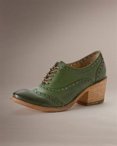 Maggie Perf Wingtip - these Frye oxfords come in an array of colors and would add a fun pop of color to any outfit.  Fun!