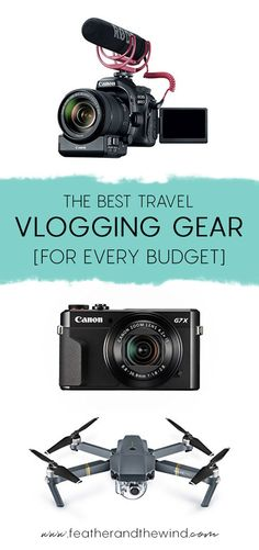 The Best Travel Vlogging Gear For Every Budget - Feather and the Wind Travel Couple Best Vlogging Camera, Best Camera, Dslr Photography Tips, Photography Equipment, Travel Photography, Wedding Photography, Travel Vlog, Travel Videos, Travel Hacks