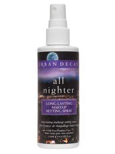 Urban Decay's moisture-resistant All Nighter spray