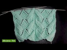 Cómo tejer Punto calado ROMBOS. Tejido con dos agujas # 505 - YouTube Knitting Stiches, Baby Hats Knitting, Knitting Videos, Lace Knitting, Crochet Stitches, Knitted Hats, Crochet Shorts Pattern, Crochet Tank, Knit Crochet
