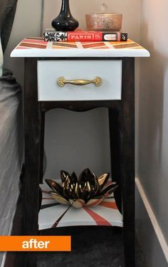 Before & After: A 40-Year-Old Nightstand Gets A Youthful New Look