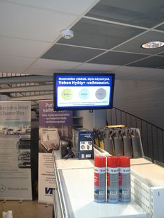 Veho is largest Mercedes Benz reseller in Finland. Seasam operates digital signage solutions in its after sales and show rooms