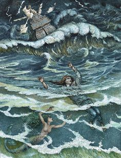 'The Little Mermaid' illustrated by Boris Diodorov
