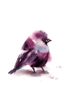 Hey, I found this really awesome Etsy listing at https://www.etsy.com/il-en/listing/271926720/bird-watercolor-print-minimalist-purple