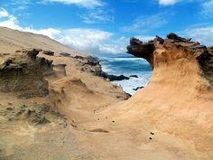 Istmo de La Pared, costa sud ovest - onda di sabbia fossile