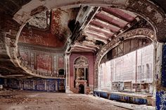Chicago photographer Eric Holubow documents the remains of abandoned factories, hospitals, schools, churches, theaters, and train stations.