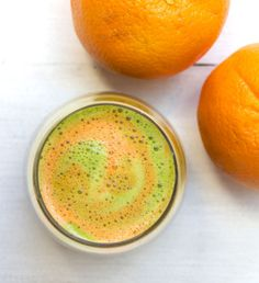 Cleansing Carrot, Orange, Kale, Lemon & Ginger Juice