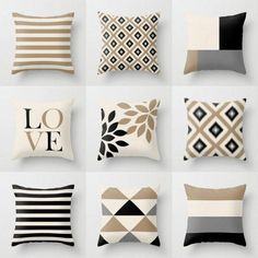 Outdoor pillows in 9 different mix and match designs. All designed to coordinate with each other.  Individually cut and sewn, features a 2 sided print. Fully stuffed and sewn closed.  SIZES: 16in. X 16in. 18in. X 18in. 20in. X 20in. 14in. X 20in. (lumbar)  FABRIC: Mildew and waterproof spun poly poplin fabric. The fabric contains a proprietary topcoat treatment applied after printing that provides UV protection, water & mildew resistant properties.   UNIQUE PROCESS: I am a fabric designer...