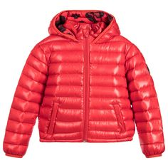 Kenzo - Red Down Padded Jacket | Childrensalon