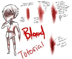 Blood and Wound Tutorial by Brixyfire on DeviantArt Digital Painting Tutorials, Digital Art Tutorial, Art Tutorials, Drawing Reference Poses, Drawing Poses, Drawing Tips, Neko Girl, Drawing Blood, Blood Art