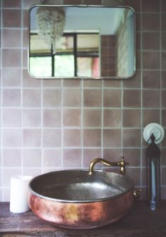 Koppar handfat Sink, Inspiration, Bathrooms, Home Decor, Sink Tops, Biblical Inspiration, Vessel Sink, Decoration Home, Bathroom