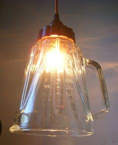 lights+made+from+blender | Put A Bulb In It: 24 upcycled pendant lights made from thrifty vintage ...
