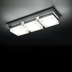 CMYK® 0209-3 Leuchten Led Deckenspot 15W, mit Aluminiumrand, Acryl in weiß,330*110*60MM, Warmweiß, 230V AC, IP20