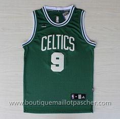 maillot nba pas cher Boston Celtics Rondo #9 Vert Mode nouveaux tissu