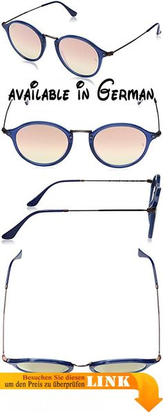 Ray-Ban Unisex-Erwachsene Sonnenbrille Flat, Blau (Blu/Marrone), 49. Copperflashgradient lens. Protective case included #Apparel #EYEWEAR