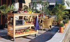 Der Küchenwagen ist vielleicht klein – aber bietet alles, was man in einer Außenküche braucht. Wir zeigen den Bau des mobilen Küchenwagens.