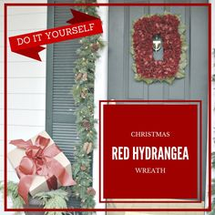 This is an easy DIY red flower wreath that you can make in an hour or less.  I am so excited to have a front porch to decorate this year.  #homeforchristmas The…