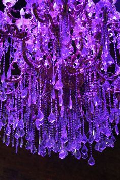 Light up the purple crystals Purple Love, All Things Purple, Purple Lilac, Shades Of Purple, Deep Purple, Magenta, Red And Blue, Purple Stuff, Purple Chandelier