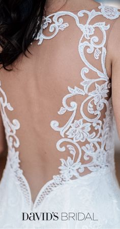 An open-back wedding dress gives you glamour from every angle. Shop the captivating Galina Signature collection, only at David's Bridal.