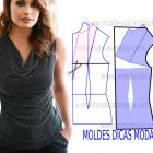 blusa drapeada na frente