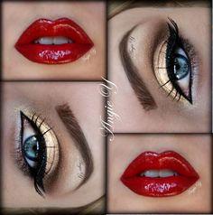 Gold & Red make up for Peytons Wonder Woman make up