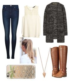 """""""Untitled #299"""" by juleenm ❤ liked on Polyvore featuring Dr. Denim, H&M, Enza Costa, Madden Girl, Pamela Love and Casetify"""