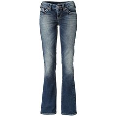 Silver Jeans Jeans Bootcut Aiko ($205) ❤ liked on Polyvore