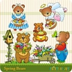 Kestner's Kreations Clip art graphics of bears for spring.  Add these to your worksheets, games, and activities....