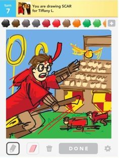 Harry Potter - Draw Something. That was a little overkill to draw a scar, but awesome overkill.