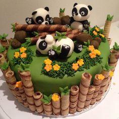 Panda Birthday Cake, Baby Birthday Cakes, Beautiful Birthday Cakes, 2 Year Old Birthday Cake, Birthday Cake Kids Boys, 24 Birthday, Panda Bear Cake, Bolo Panda, Panda Cakes