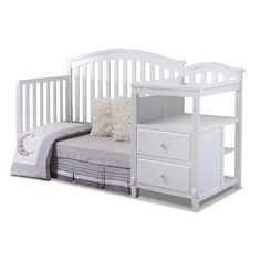 All In One Crib With Changer And Storage Drawers. Features Sturdy  Construction In A Durable Painted White Finish.u003cbru003e U003cbru003eSorelle Creates  High Quality ...