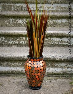 Penny Vase DIY (please repin and help get my blog out there!)