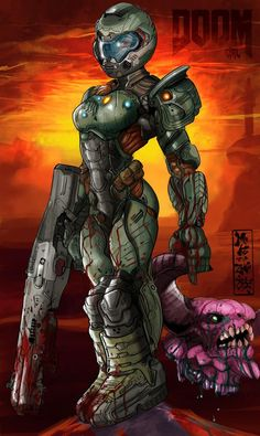 Female Praetor Suit/Doom girl concept what do you guys think ? Fantasy Character Design, Character Art, Zootopia, Doom 2016, Gender Bender Anime, Doom Game, Heavy Metal Art, Slayer Meme, Female Armor