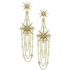 Belle Noel By Kim Kardashian Vintage Glamour Star Earrings (€40) ❤ liked on Polyvore featuring jewelry, earrings, accessories, gold, star jewelry, vintage jewellery, glitter jewelry, belle noel by kim kardashian and vintage star jewelry