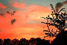 Ein brennender Abendhimmel bei Kirstin...